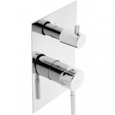 Смеситель скрытого монтажа ванна/душ с переключателем на 3 зоны Genebre Tau 3way 65118 18 45 66
