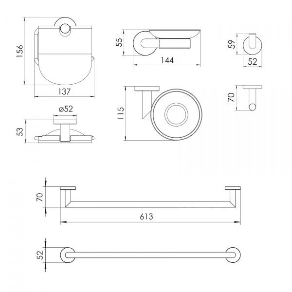Душевая система + набор аксессуаров 4 в 1 Imprese T-10155+100014