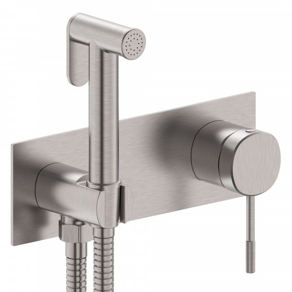 Гигиенический набор скрытого монтажа IMPRESE BRENTA ZMK081906122 никель
