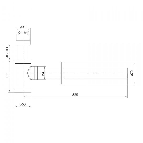 Сифон для раковини Imprese Brenta ZMK081906600 нікель