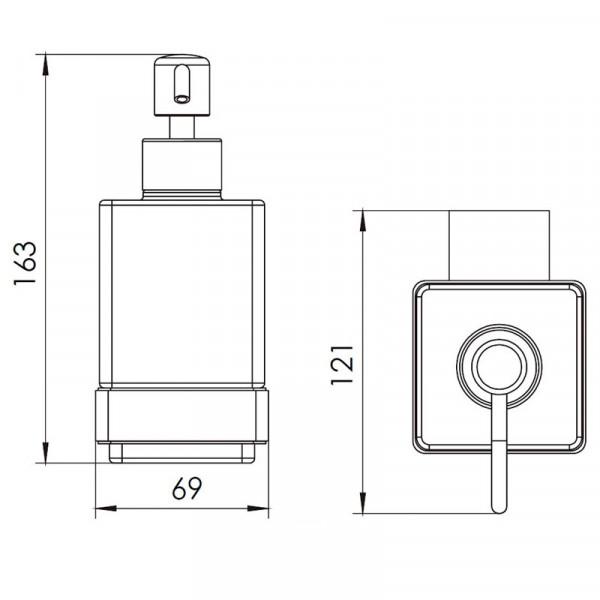 Дозатор для мыла объем 280 мл Imprese Bitov 170300