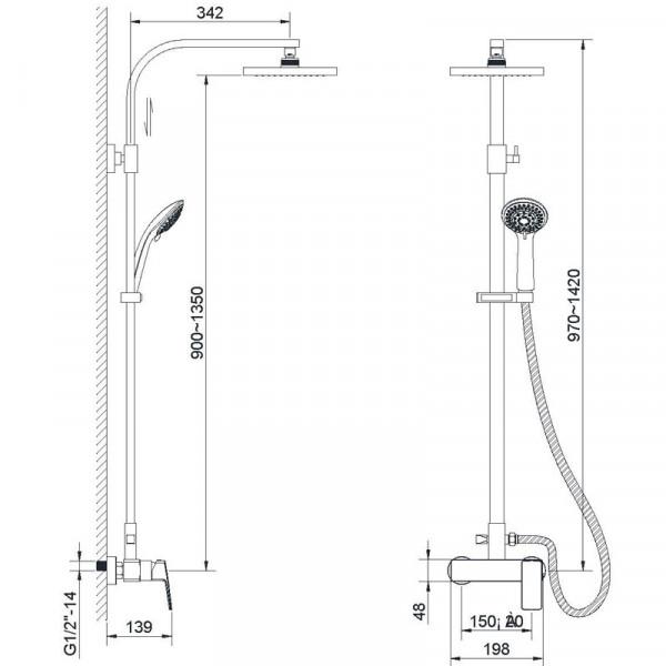 Душевая система Imprese Grafiky ZMK041807090