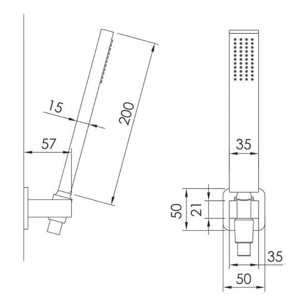 Душевой гарнитур Imprese Grafiky ZMK061901100
