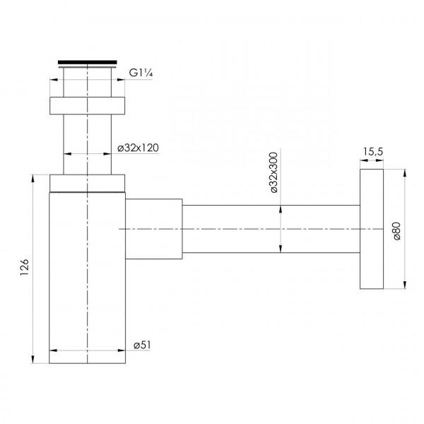Сифон для умывальника, серый графит Imprese Grafiky ZMK041807600