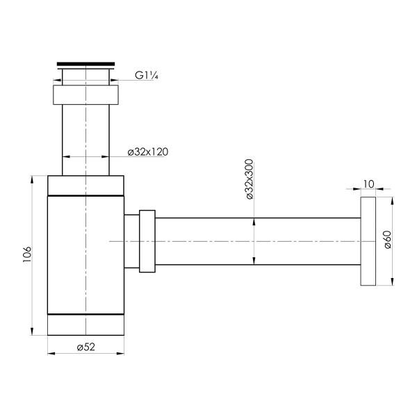 Сифон для умывальника Imprese Hydrant ZMK031806600