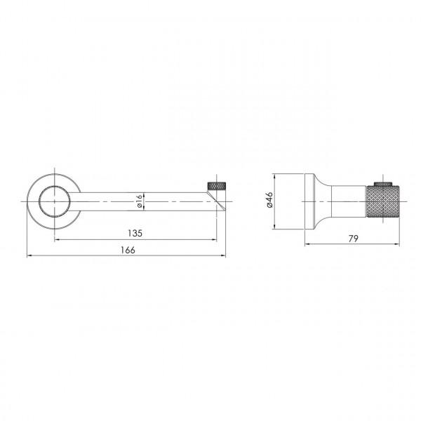 Держатель для туалетной бумаги никель Imprese Brenta ZMK081906220