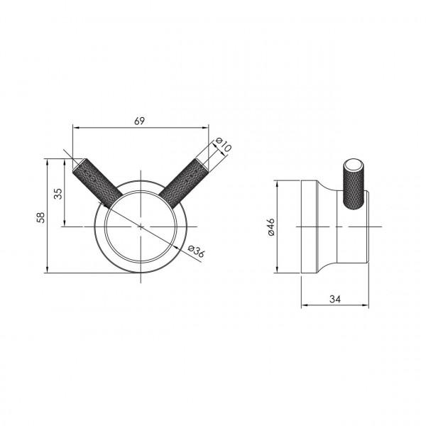 Крючок никель Imprese Brenta ZMK081906210