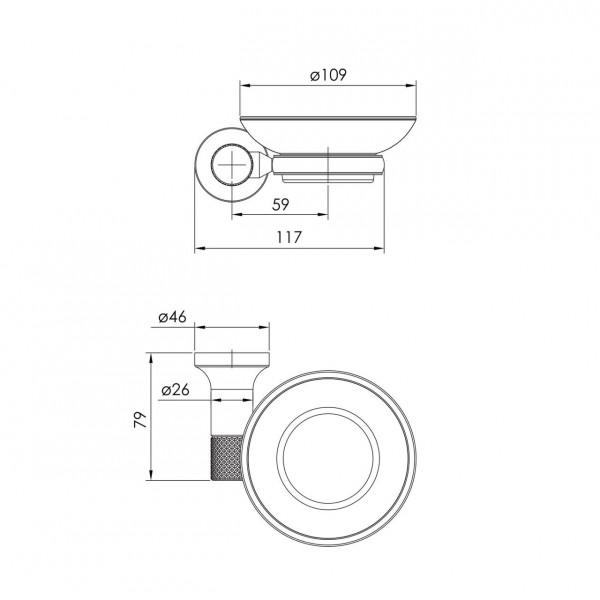 Настенная мыльница граф.хром Imprese Brenta ZMK091908250