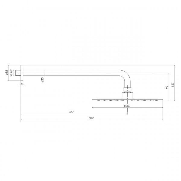 Верхний душ граф.хром Imprese Brenta ZMK091908101