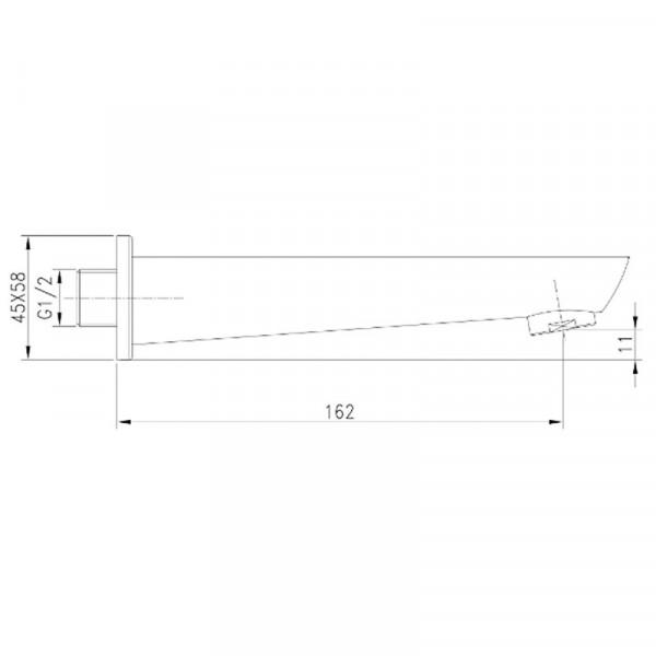 Излив скрытого монтажа для ванны Imprese Breclav VR-11245