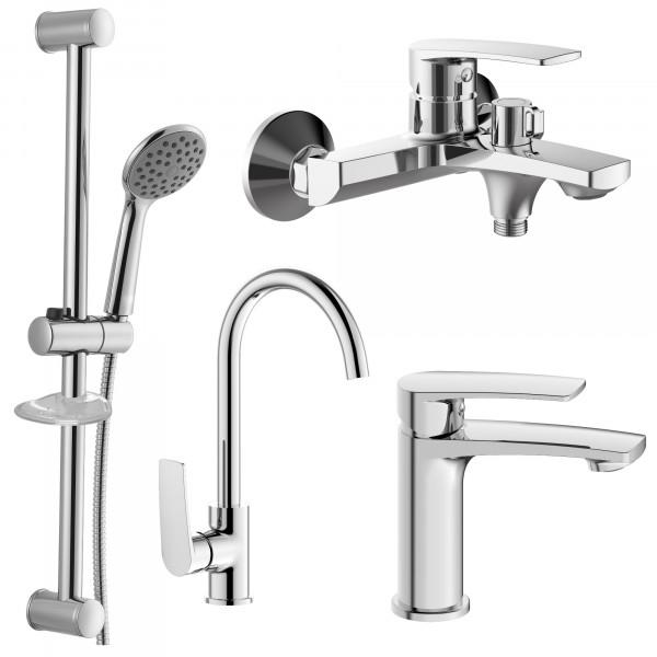 Набор смесителей 4 в 1 для ванны и кухни IMPRESE KAMPA 2 51028556
