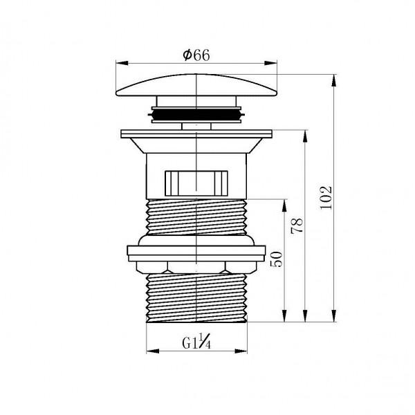 Клапан донный Pop-up Imprese Grafiky ZMK041807500