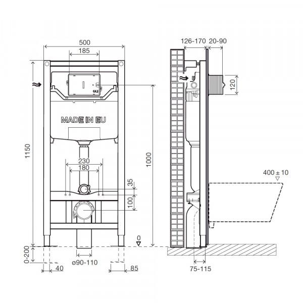 Комплект инсталляции 3в1 Imprese i9120