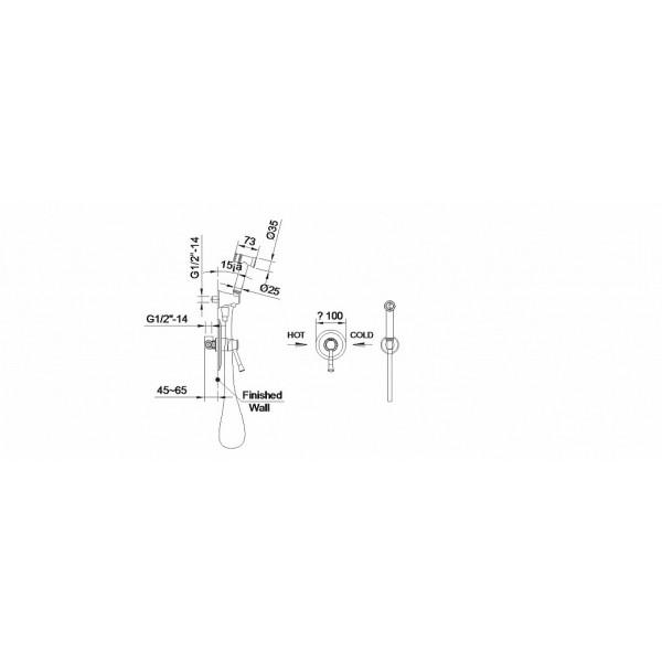 Набор гигиенического душа скрытого монтажа Imprese Podzima Ledovo ZMK01170112