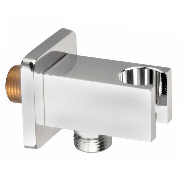Подсоединение шланговое с настенным держателем, форма SQ Imprese HC04