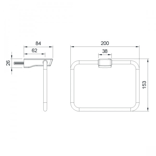 Полотенцедержатель Imprese Grafiky ZMK04180828
