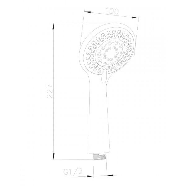 Ручной душ, 1 режим Imprese W100SL1