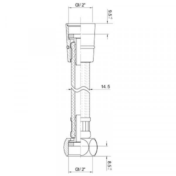 Шланг для душа полимер с металлическим эффектом 1250 мм Imprese 1818SH