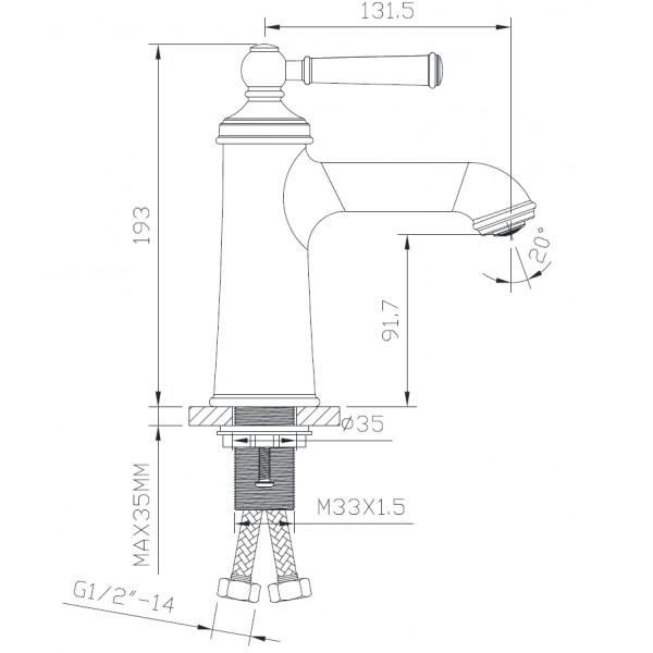 Смеситель для раковины Imprese Hydrant ZMK031806010