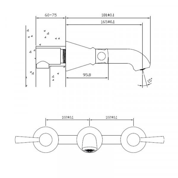 Смеситель для раковины скрытого монтажа Imprese Podzima Zrala ZMK02170803