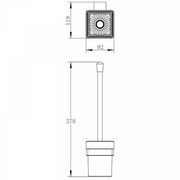 Туалетный ершик Imprese Bitov 150300