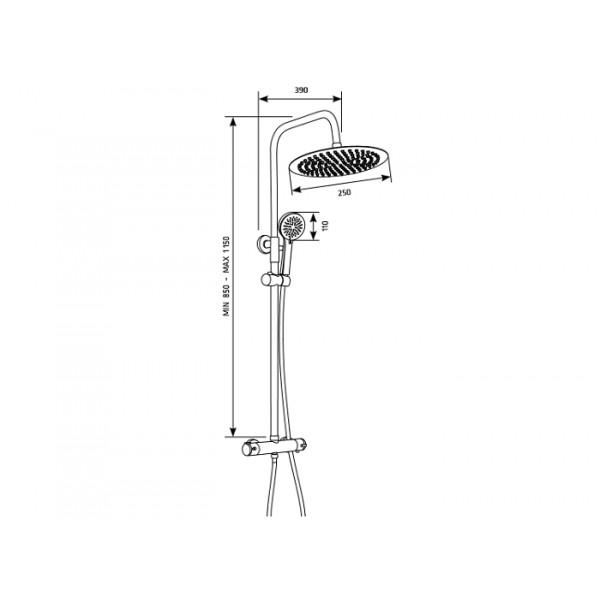 Душевая система с термостатом Invena Imola Exe AU-11-001