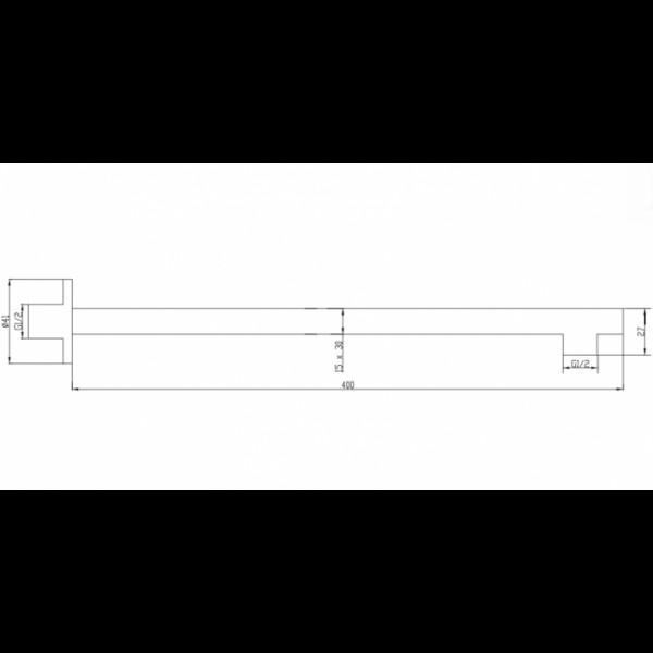 Душевой кронштейн настенный 40 см Invena SC-P1-031