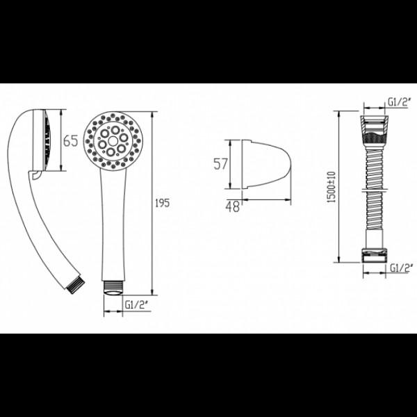 Душевой набор Invena Mini Klio AU-20-M01
