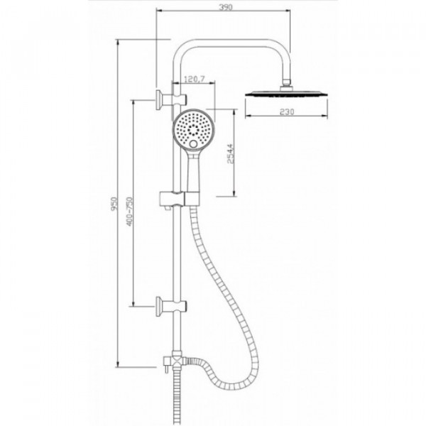 Душевой гарнитур с верхним душем Invena Kameleon AU-26-005