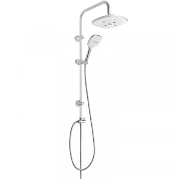 Душевой гарнитур с верхним душем Invena Rotonda AU-27-K02