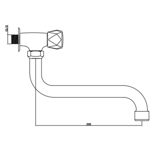 Кран для воды Invena Modena BU-63-F5S