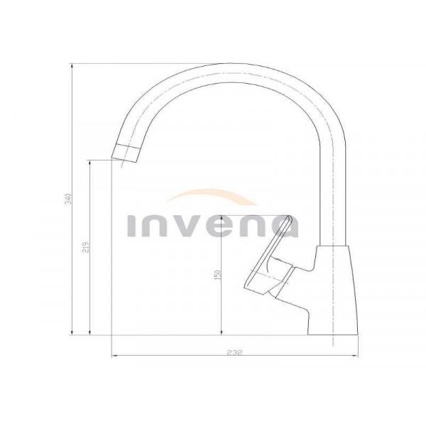 Кухонный смеситель Invena Corso BZ-81-L03