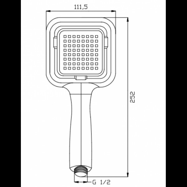 Ручной душ Invena Islay AS-88-001
