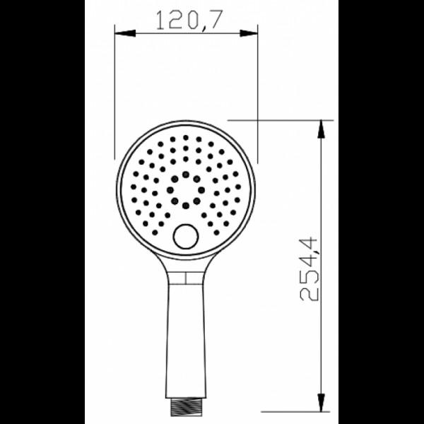 Ручной душ Invena Kameleon SC-D1-B39