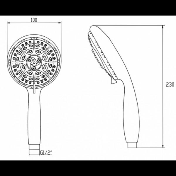 Ручной душ Invena Palia AS-57-001