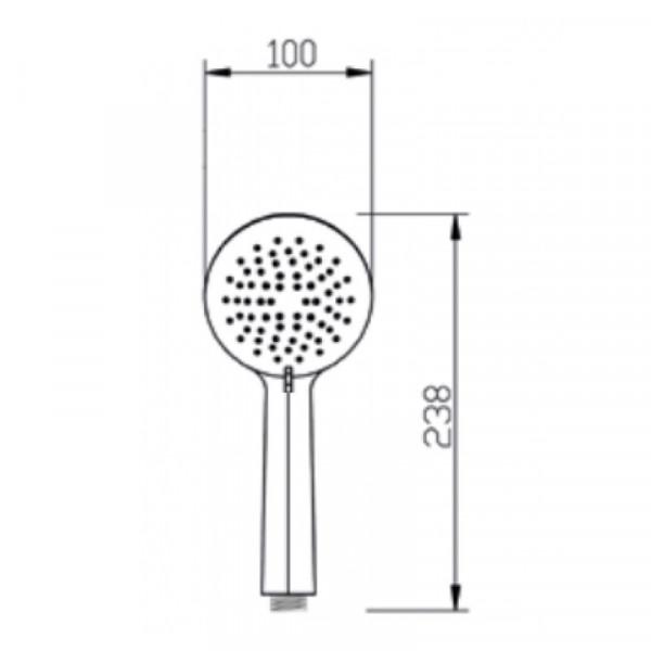 Ручной душ Invena Simi AS-17-002