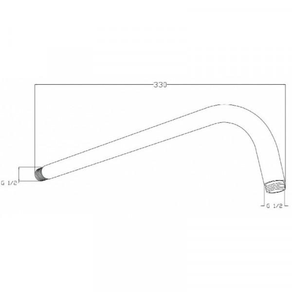 Душевой кронштейн настенный 33,5 см Invena SC-P1-018