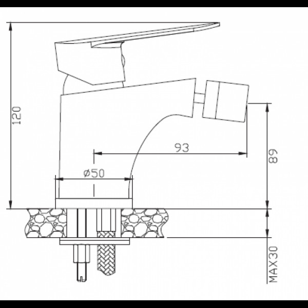 Смеситель для биде Invena Esla BB-94-001
