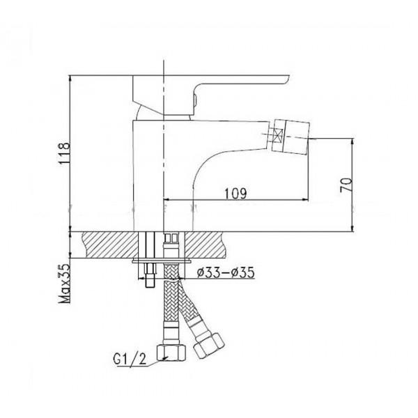 Смеситель для биде Invena Kastos BB-16-001