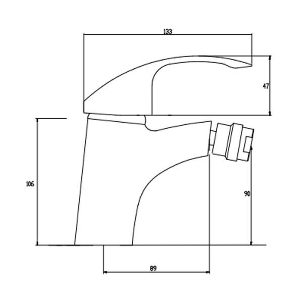 Смеситель для биде Invena Nea Inox BB-83-023