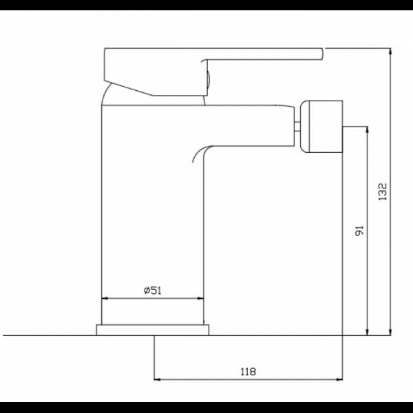 Смеситель для биде Invena Roland BB-92-001