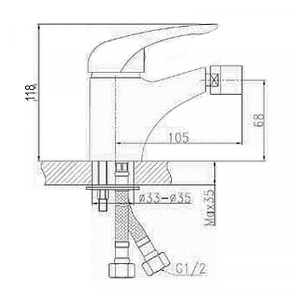 Смеситель для биде Invena Simi BB-17-001