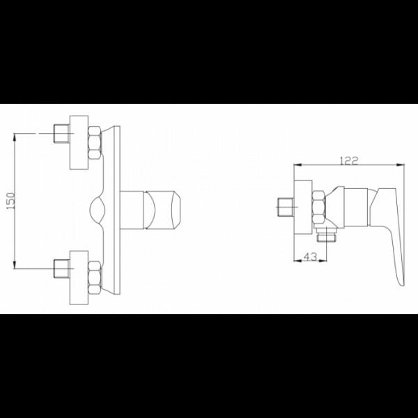 Смеситель для душа Invena Dokos BN-19-001