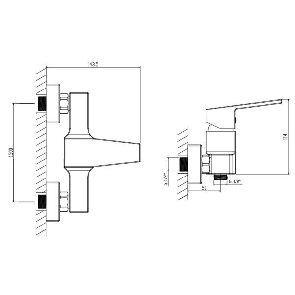 Смеситель для душа Invena Marmo BN-72-001