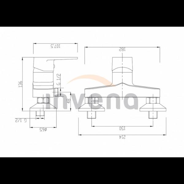 Смеситель для душа Invena Merida BN-03-001