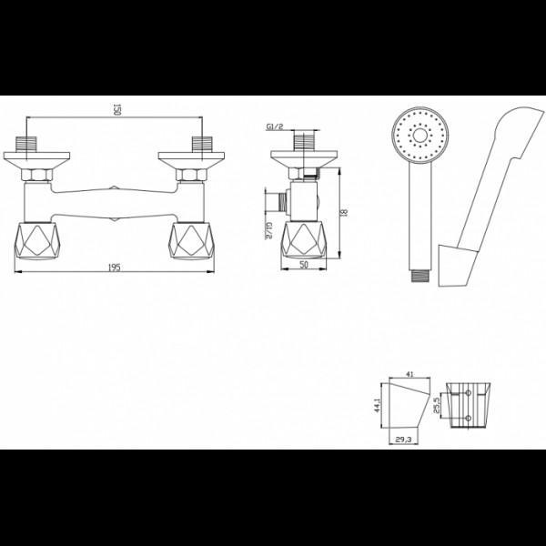 Смеситель для душа Invena Modena BN-11-F0S