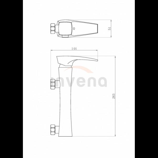 Смеситель для душа Invena Nikea BN-07-001