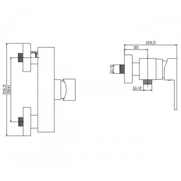 Смеситель для душа Invena Roland BN-92-001