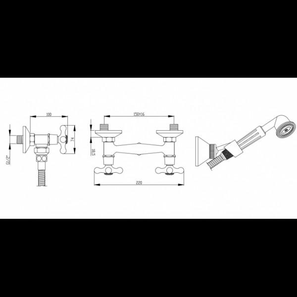 Смеситель для душа Invena Roma BN-21-00S