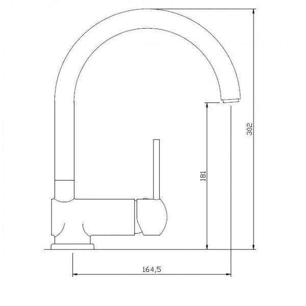 Смеситель для кухни Invena Axos Exe BZ-97-001